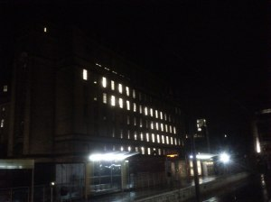 Manchester Town Hall annexe at 00:55hrs, whilst no work being carried out.